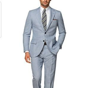 Suit Supply LAZIO LIGHT BLUE CHECK 2pc  size 40